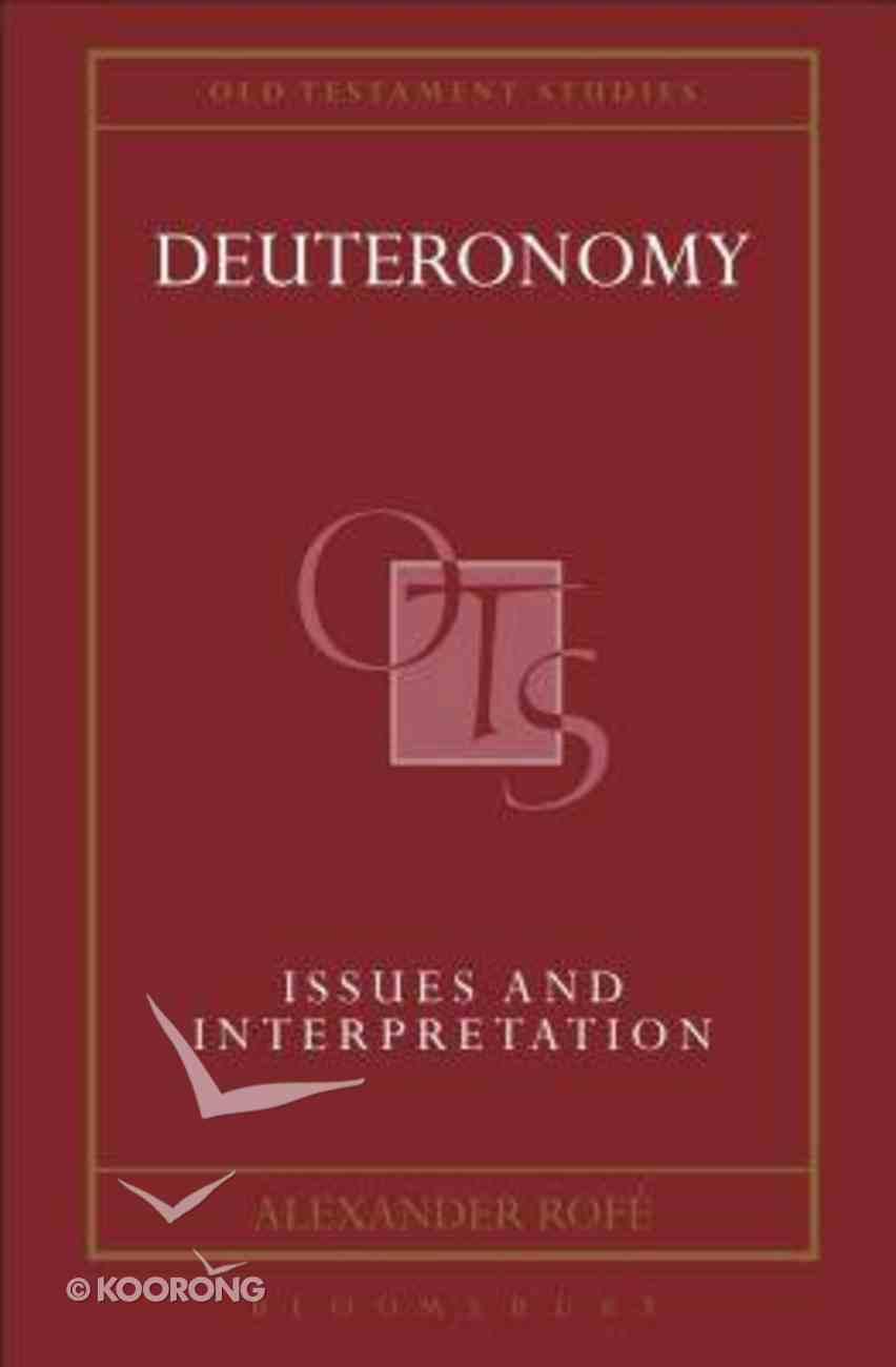 Old Testament Studies: Deuteronomy Hardback