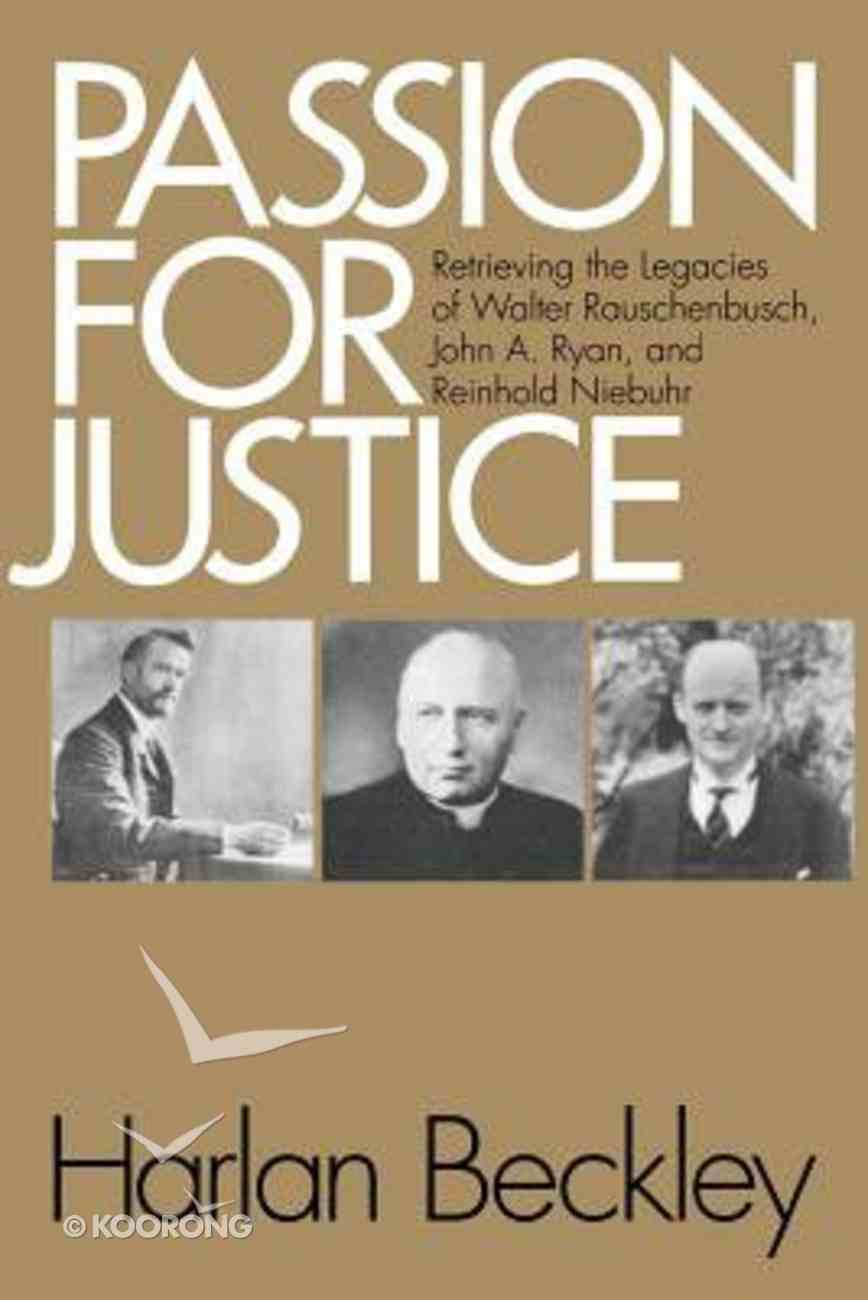 Passion For Justice Paperback