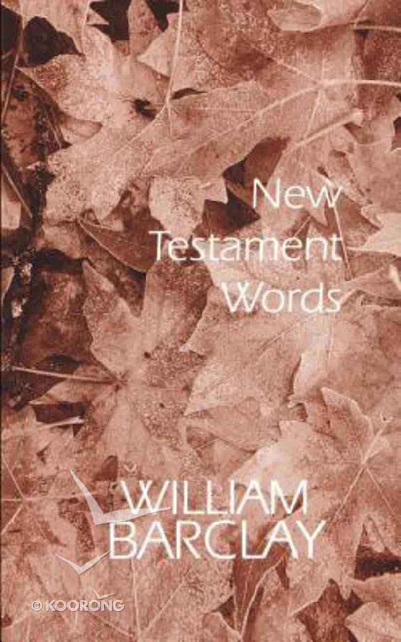 New Testament Words Paperback