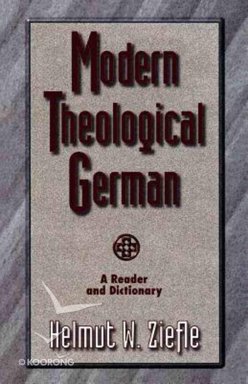 Modern Theological German Paperback