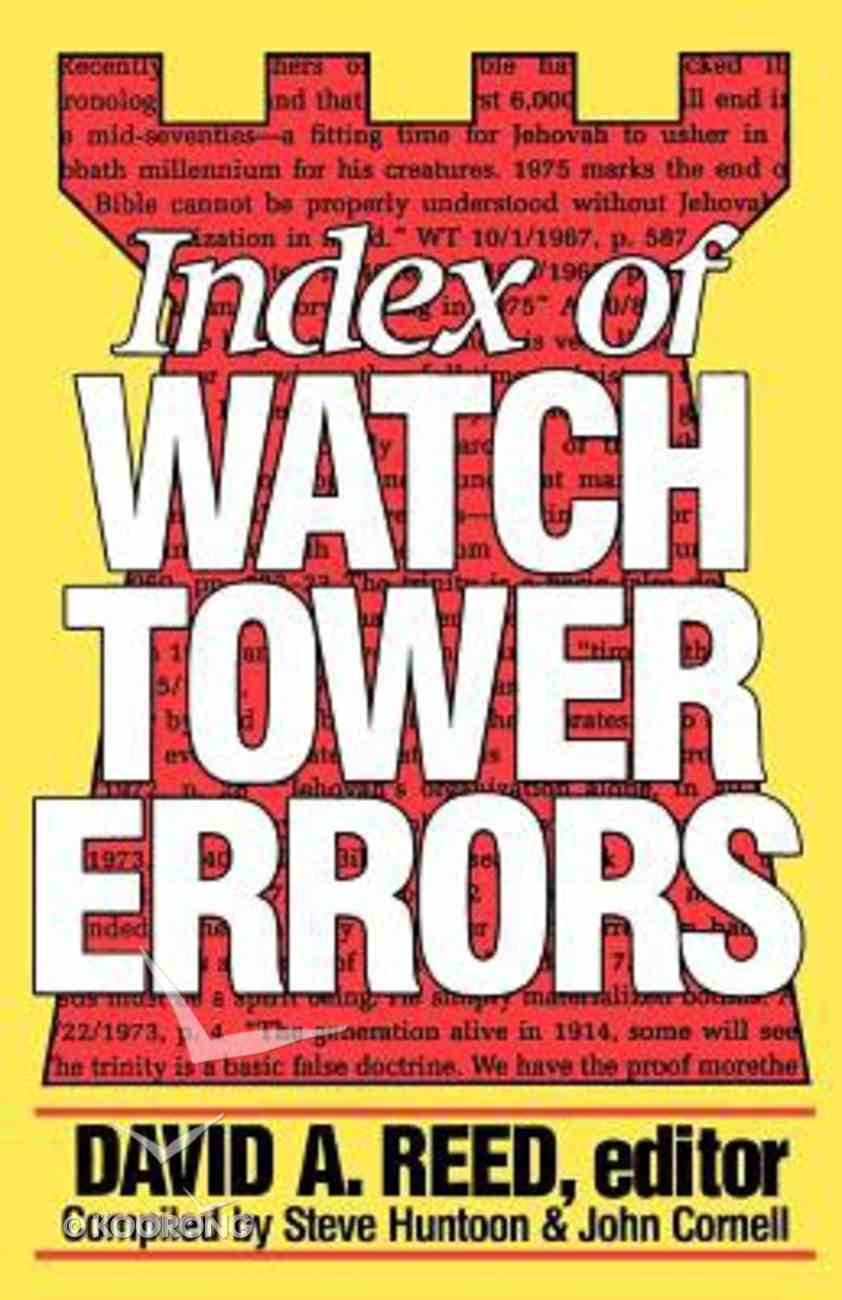 Index of Watchtower Errors (1879 To 1989) Paperback