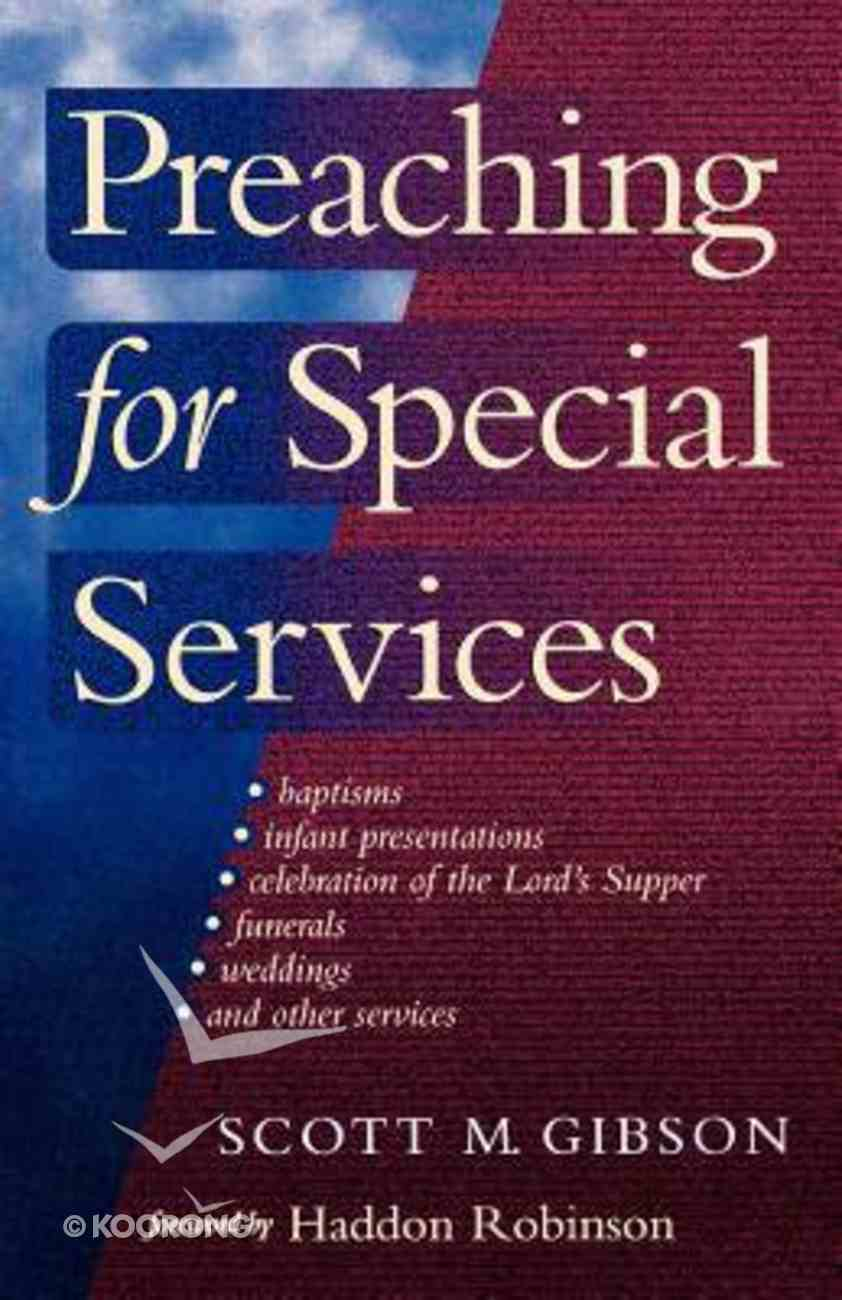 Preaching For Special Services Paperback
