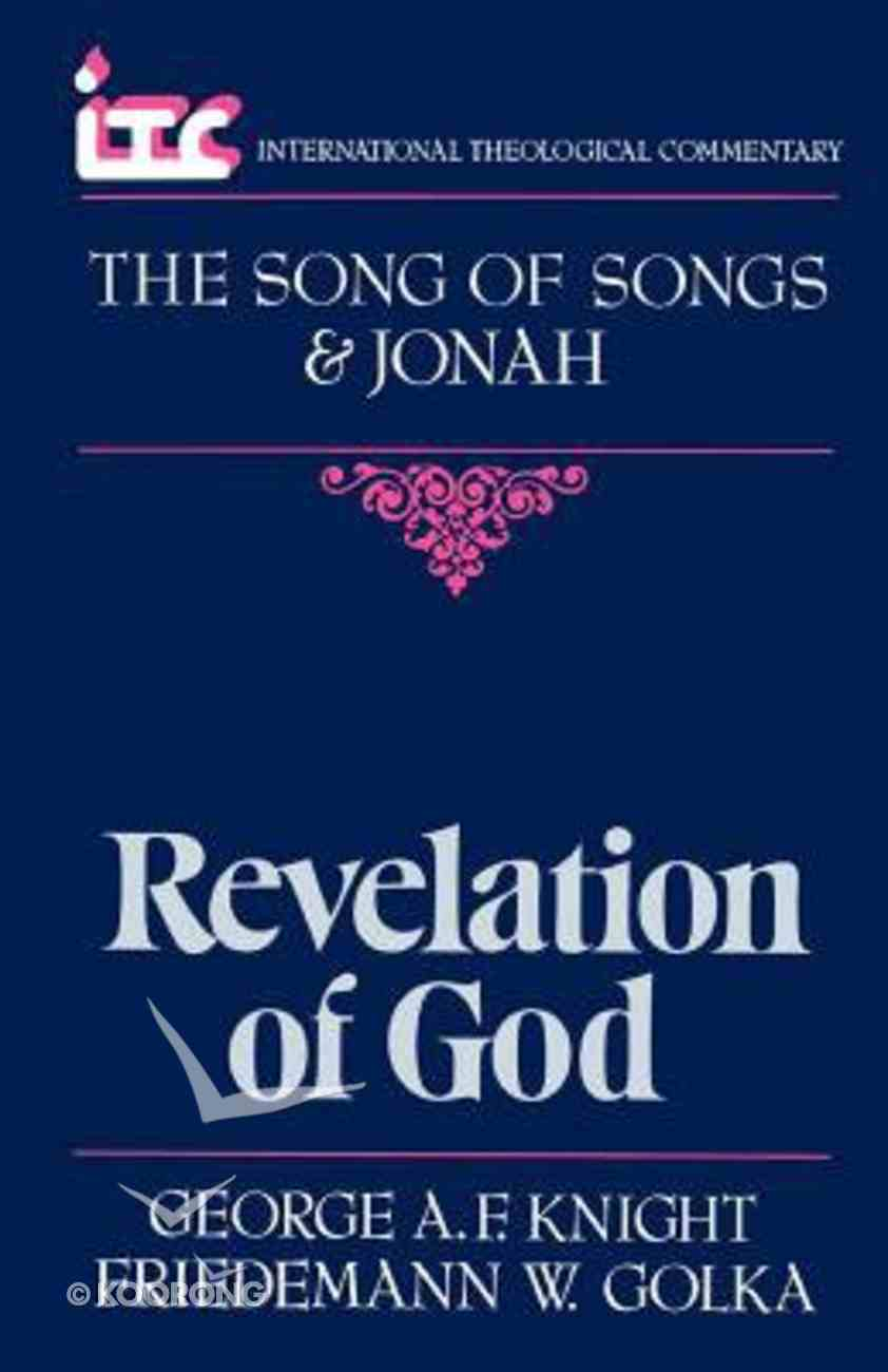 Itc Song of Songs and Jonah (International Theological Commentary Series) Paperback