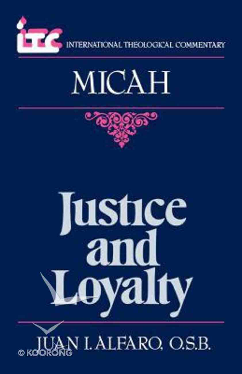 Itc Micah (International Theological Commentary Series) Paperback