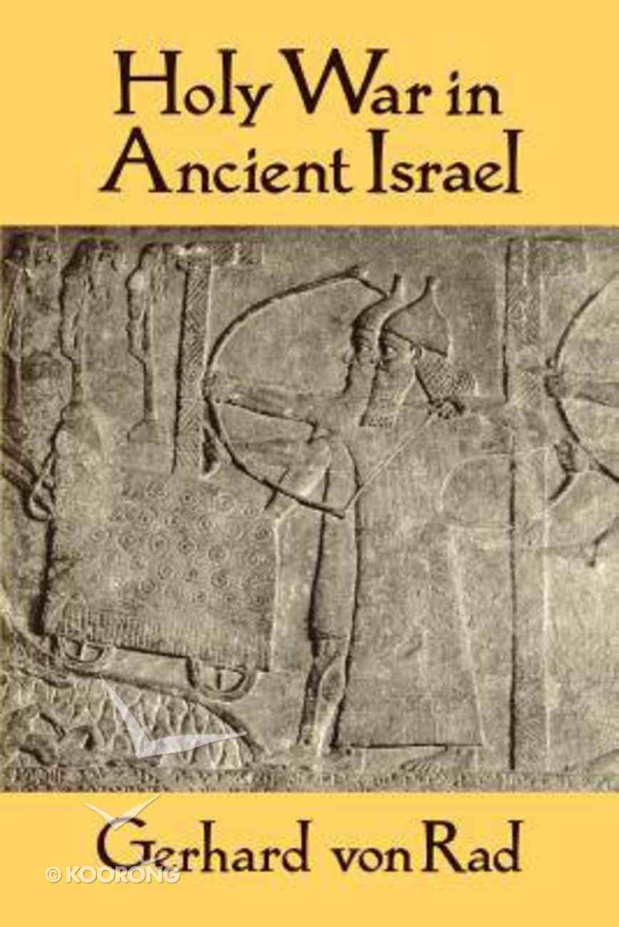 Holy War in Ancient Israel Paperback