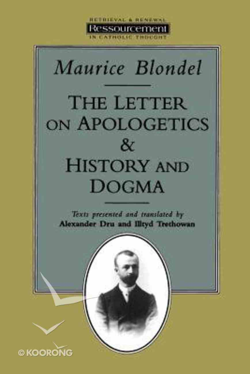 Letter on Apologetics and History and Dogma Paperback