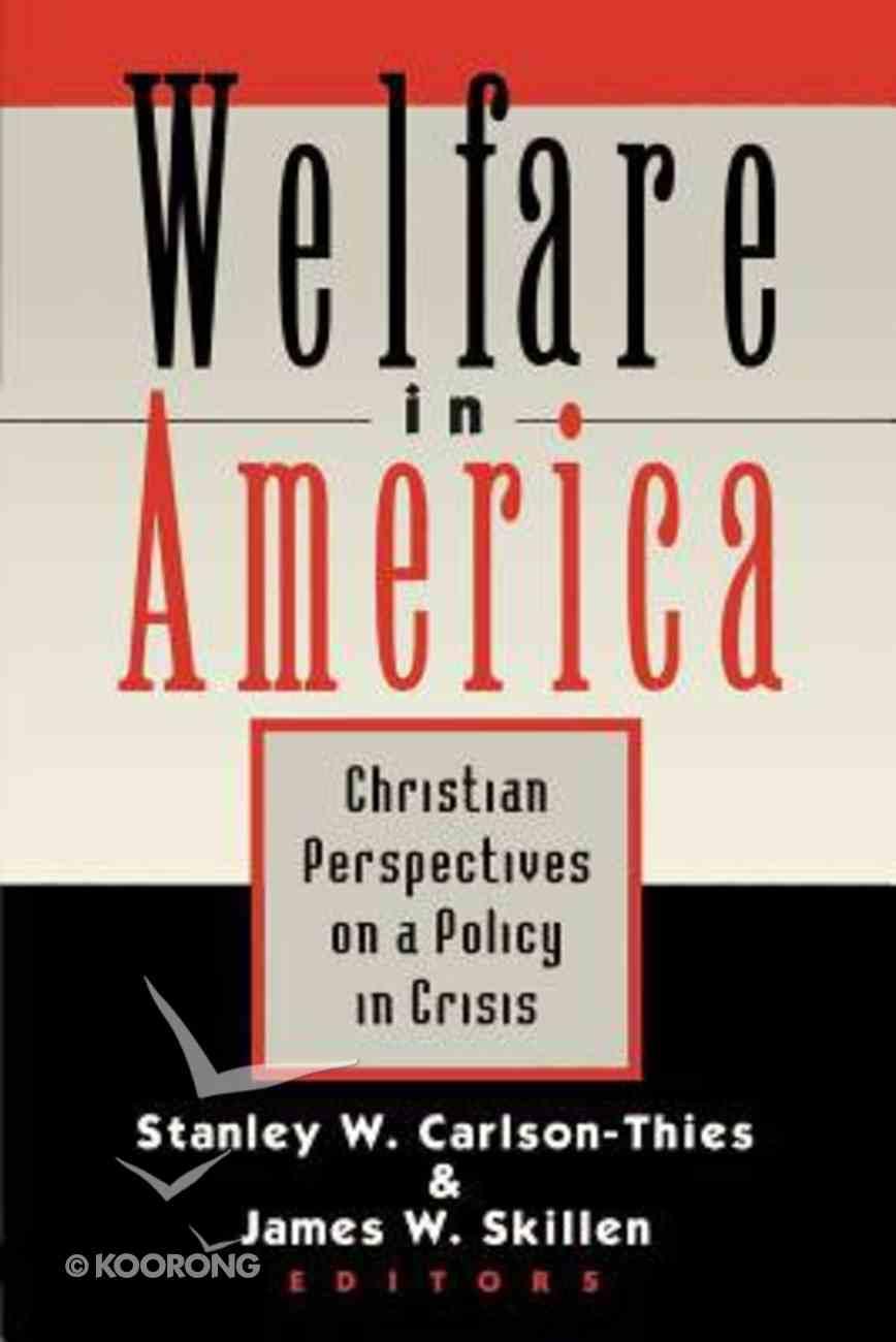 Welfare in America Paperback