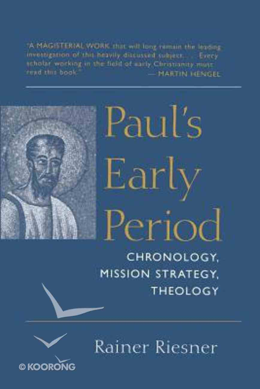 Paul's Early Period Paperback