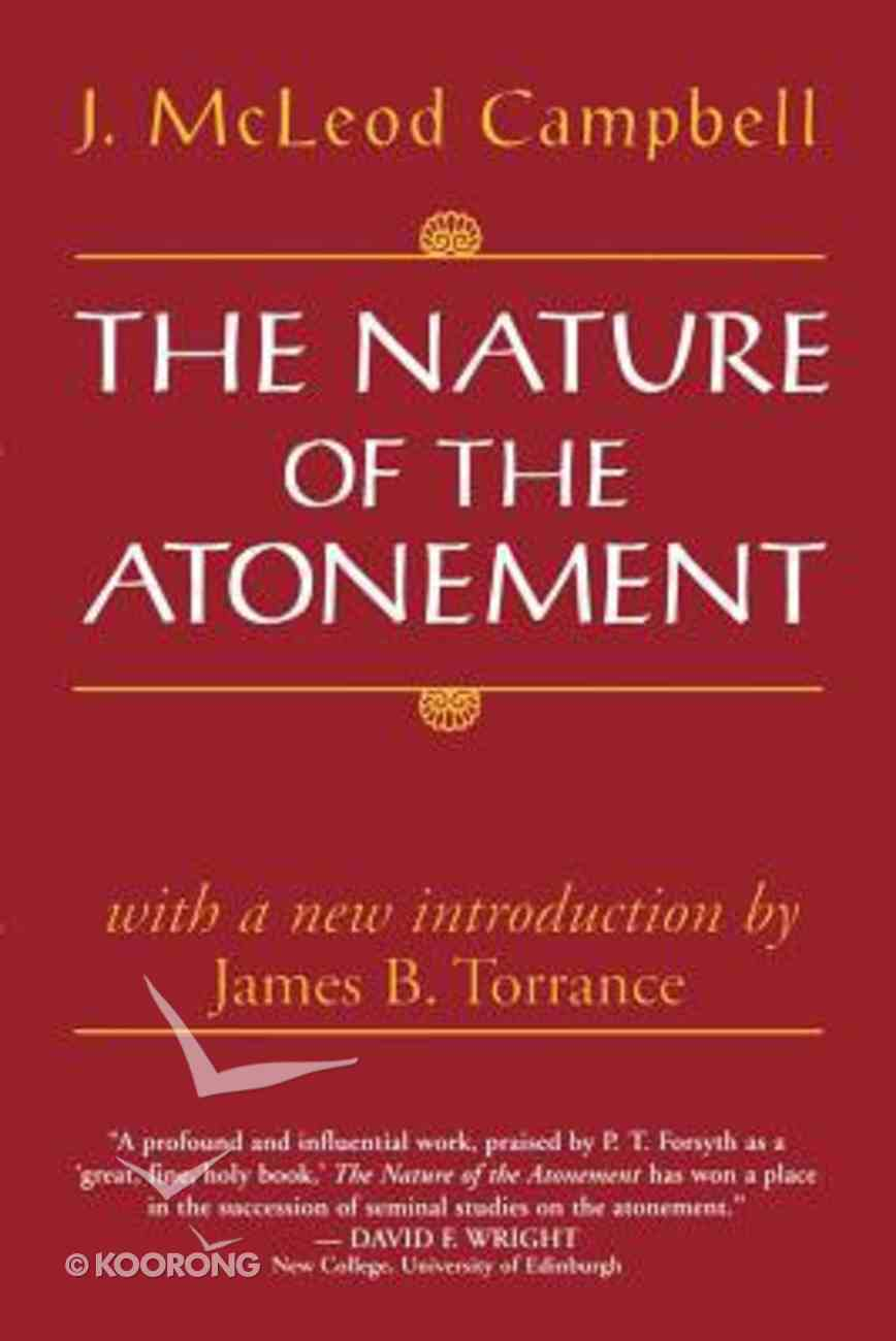 The Nature of the Atonement Paperback
