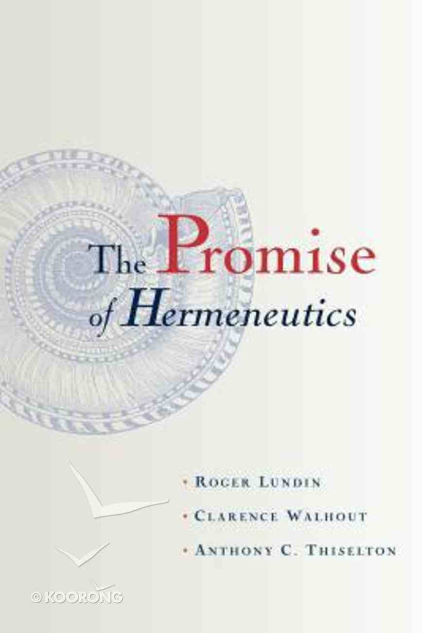 The Promise of Hermeneutics Paperback
