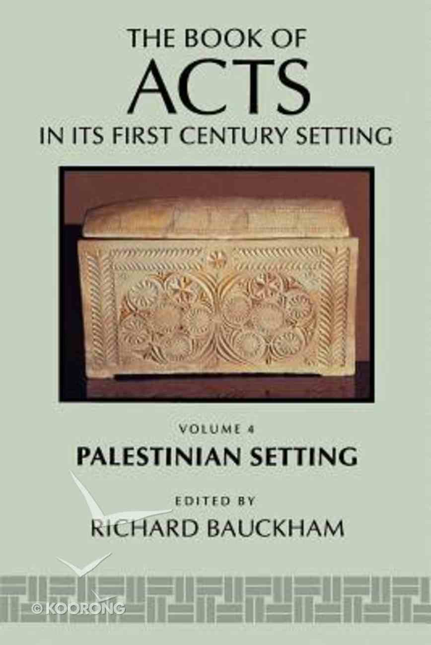 Palestinian Setting (#04 in Book Of Acts Series) Paperback
