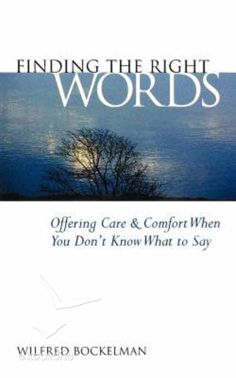 Finding the Right Words Paperback