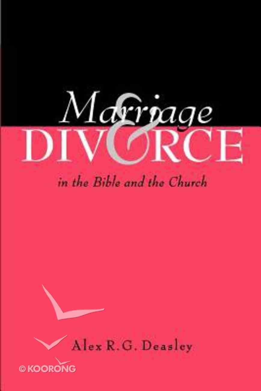 Marriage and Divorce Paperback