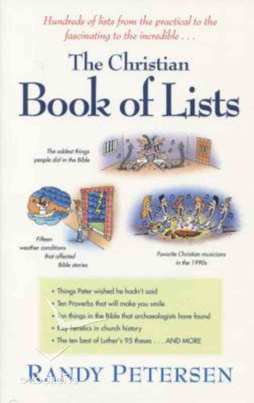 The Christian Book of Lists Paperback