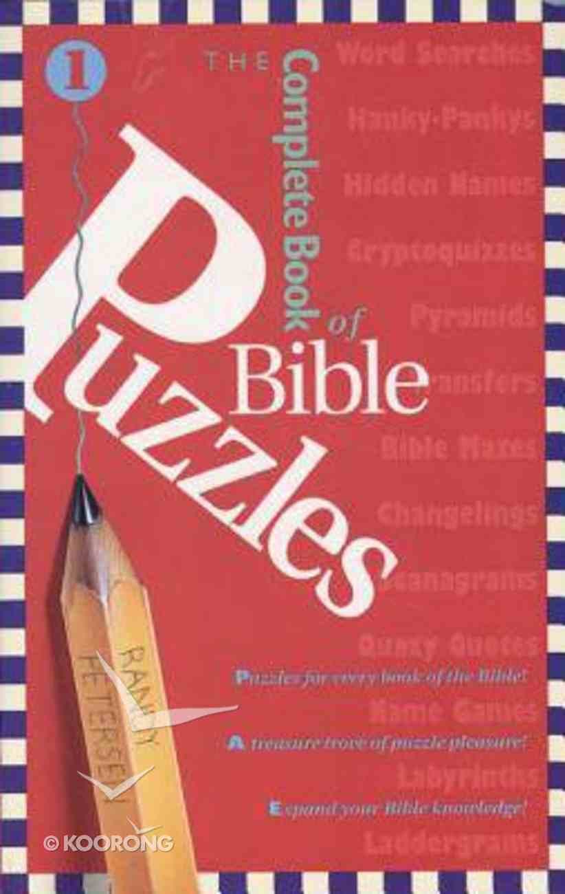 The Complete Book of Bible Puzzles (Vol 1) Paperback