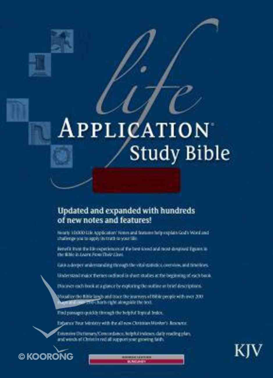 KJV Life Application Study Bible Burgundy Indexed 2nd Edition (Red Letter Edition) Bonded Leather