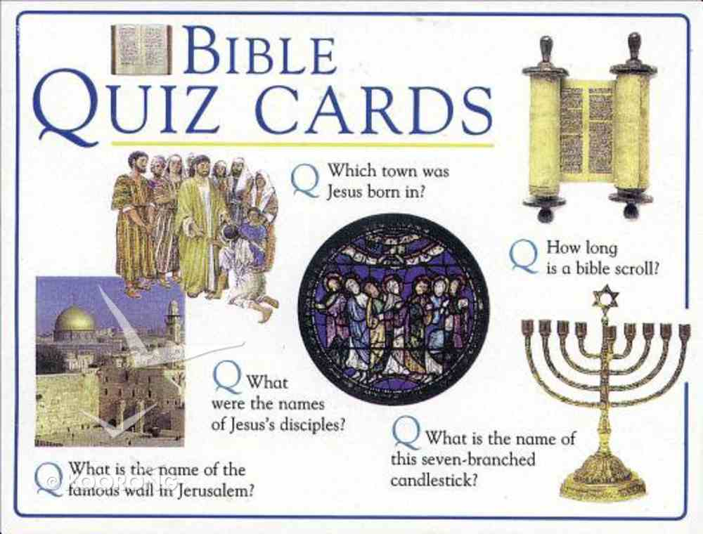 Bible Quiz Cards Game
