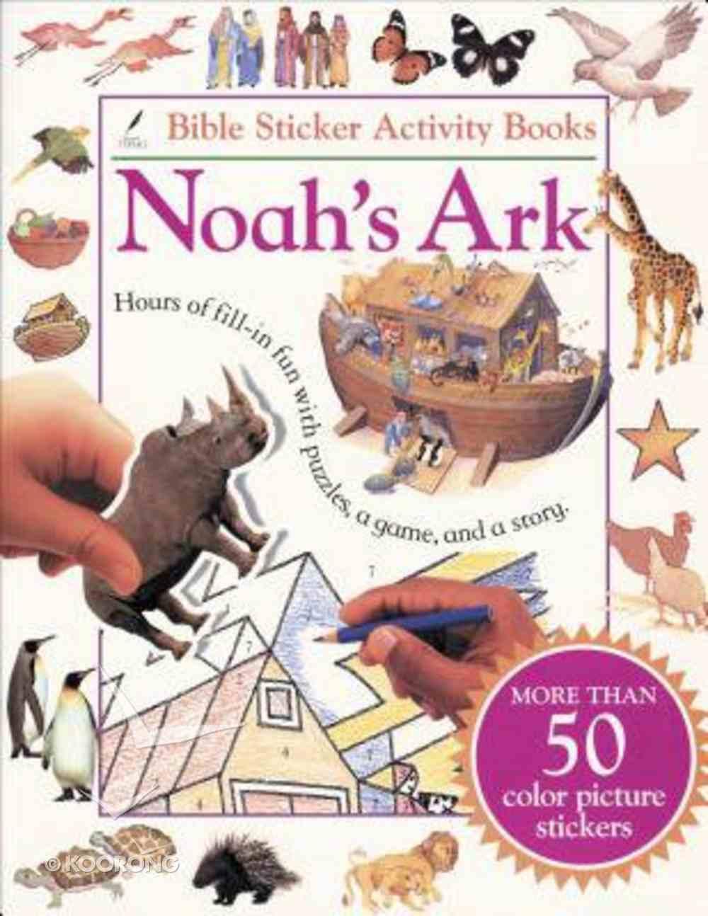 Noah's Ark Bible Activity Sticker Book Paperback