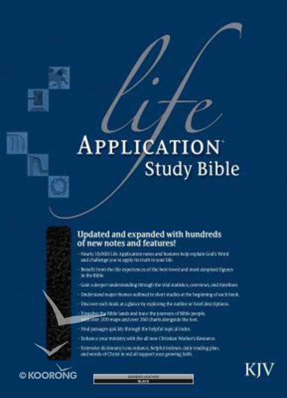 KJV Life Application Study Bible Black Indexed 2nd Edition (Red Letter Edition) Bonded Leather