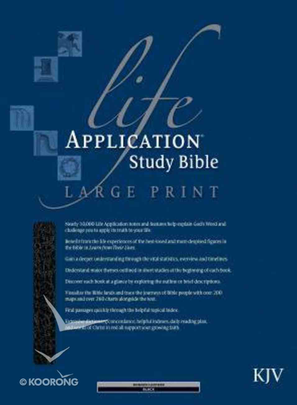 KJV Life Application Study Large Print Black (Red Letter Edition) Bonded Leather