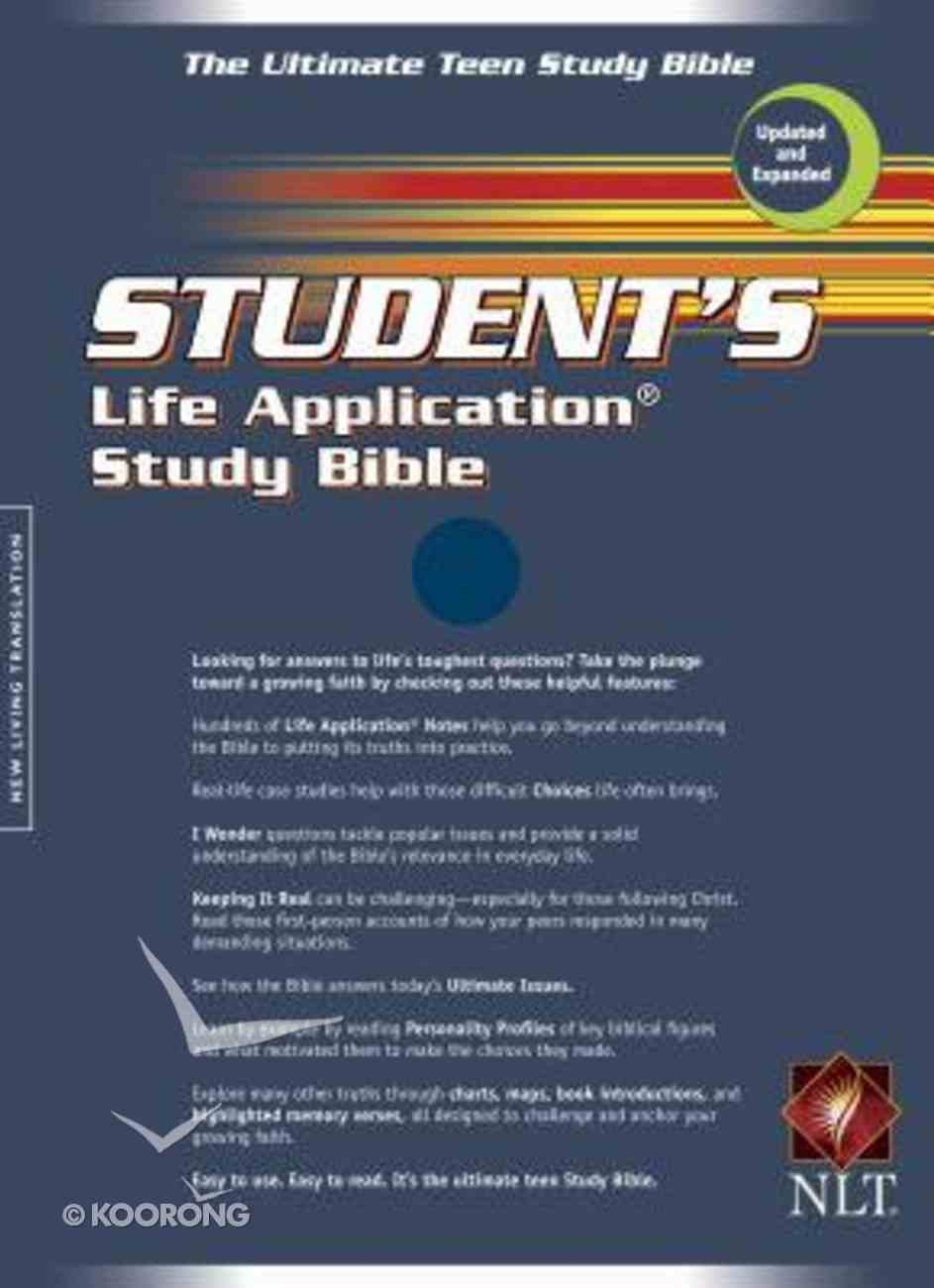 NLT Students Life Application Bible Navy (2005) Bonded Leather