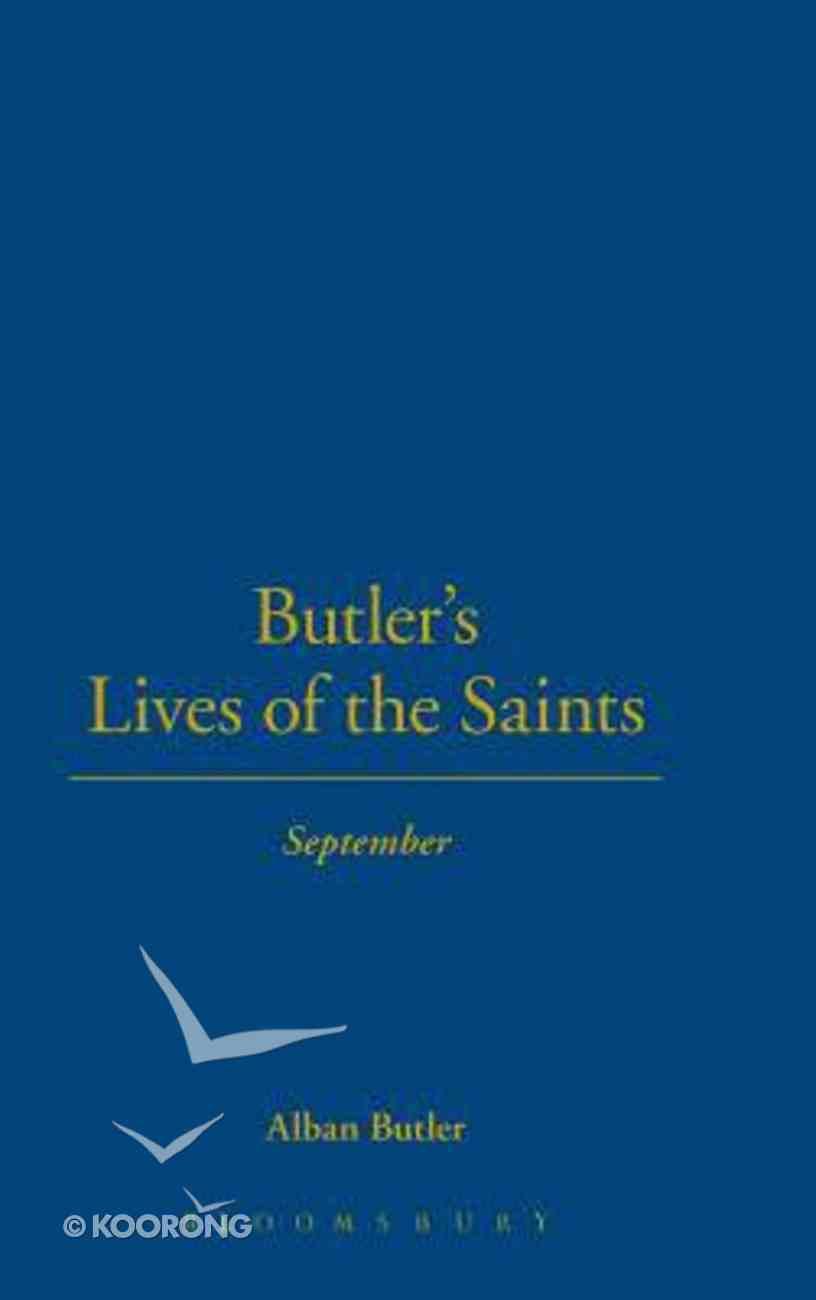 September (Butler's Lives Of The Saints Series) Hardback