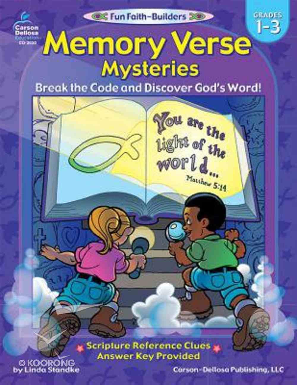 Memory Verse Mysteries (Reproducible; Grades 1-3) (Fun Faith-builders Series) Paperback
