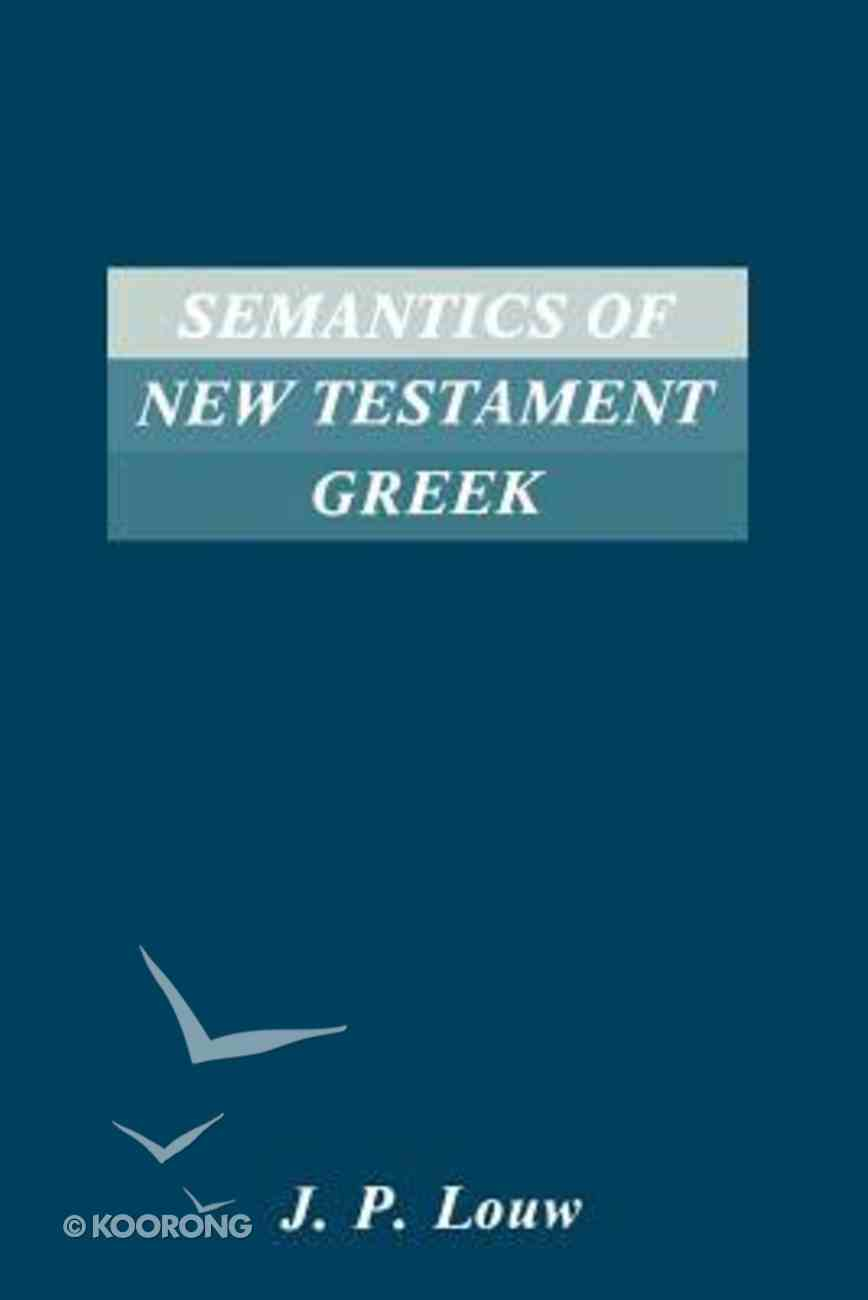 Semantics of New Testament Greek Paperback