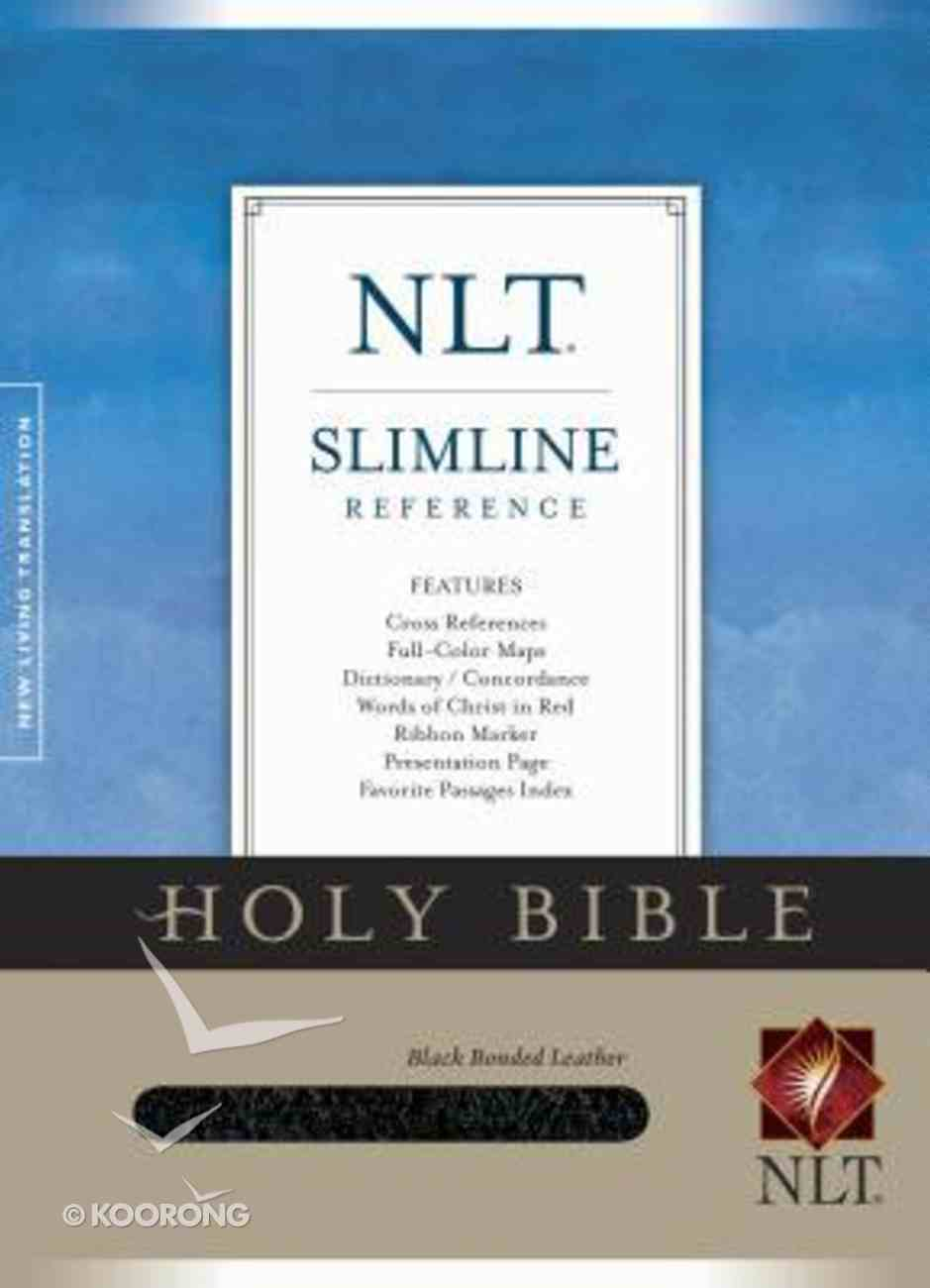 NLT Slimline Reference Black (Red Letter Edition) Bonded Leather
