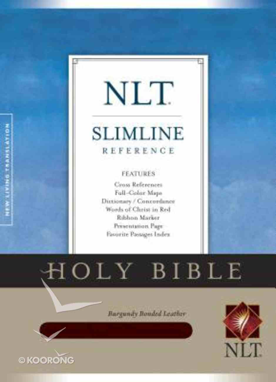 NLT Slimline Reference Burgundy (Red Letter Edition) Bonded Leather