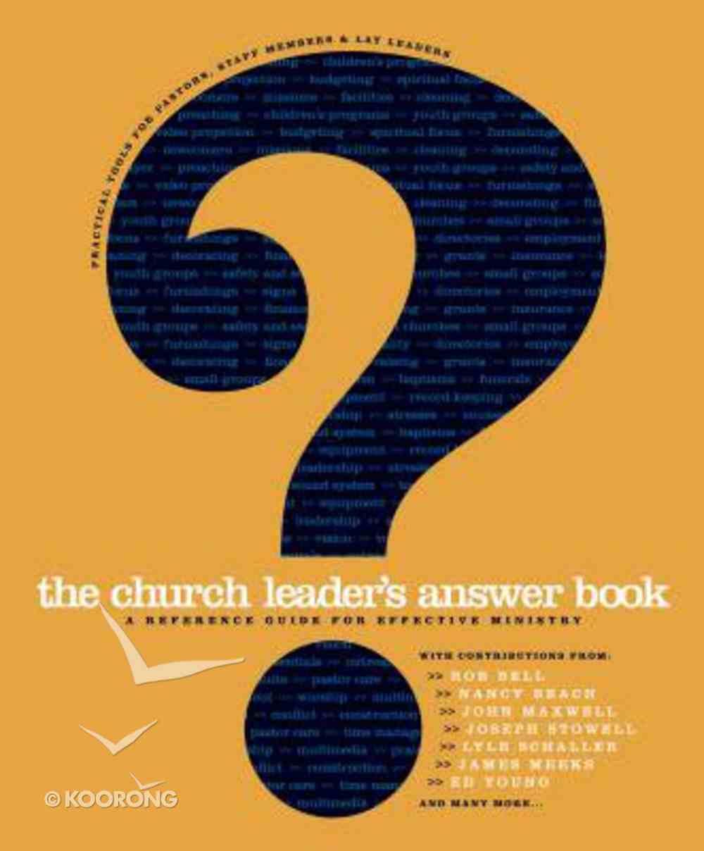 The Church Leader's Answer Book Hardback