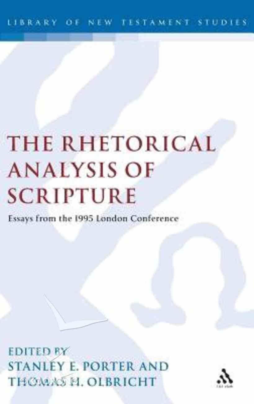 Rhetorical Analysis of Scripture Hardback