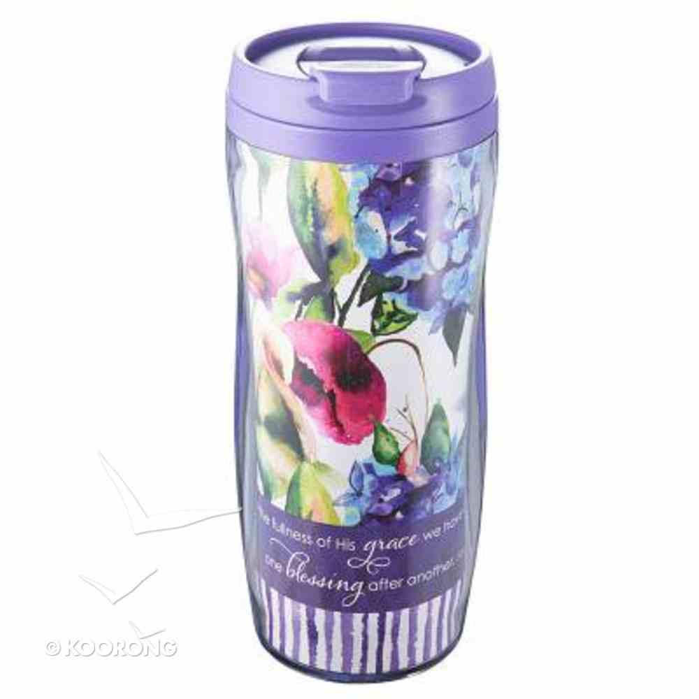Polymer 480ml Mug With Design Insert: Seeds of Love (Purple/flowers) Homeware