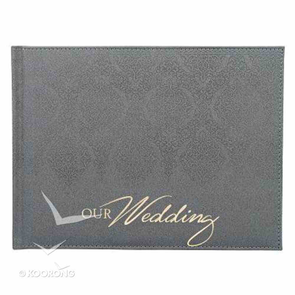 Guest Book: Wedding Silver Luxleather Stationery