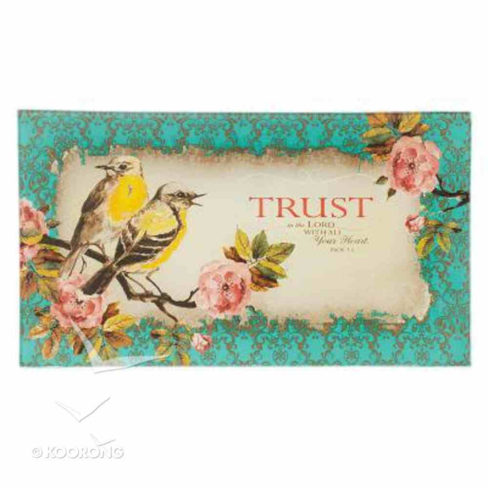 Glass Tray: Trust, Turquoise Birds (Prov 3:5) Homeware