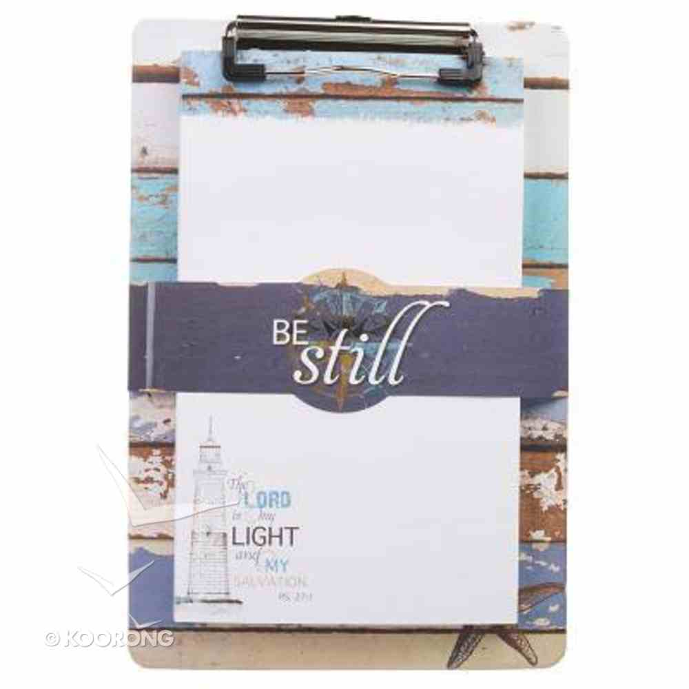 Clipboard With Notepad: Be Still, Nautical (Ps 46:10) Stationery