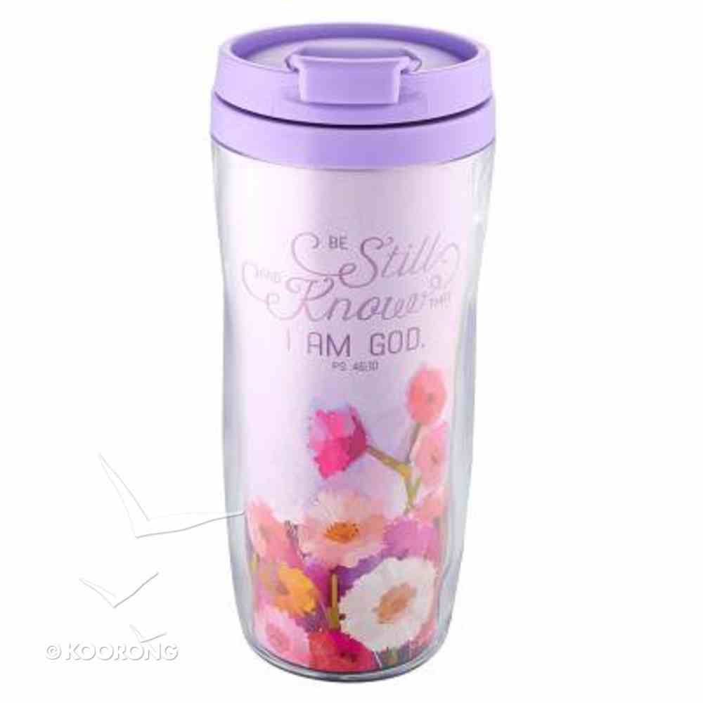 Polymer 360ml Mug: Be Still and Know... (Flowers/lilac) Homeware