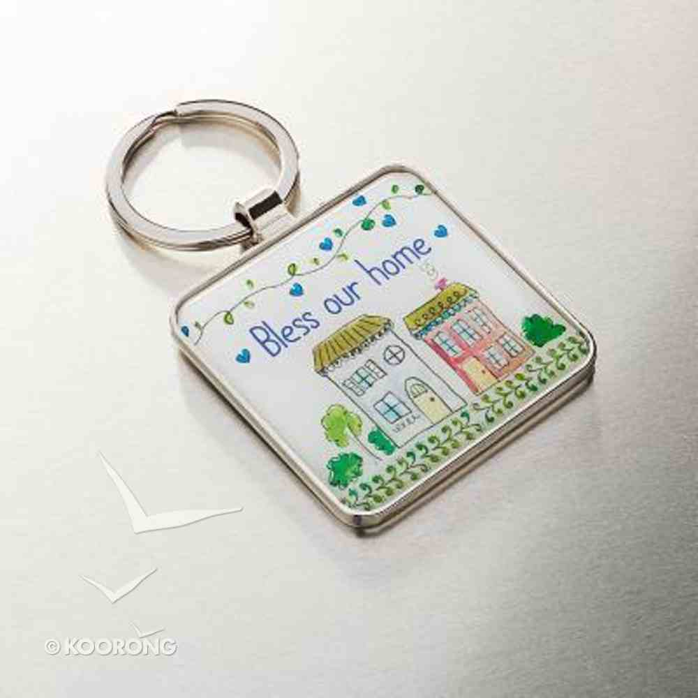 Metal Keyring: Bless Our Home (Joshua 24:15) Novelty