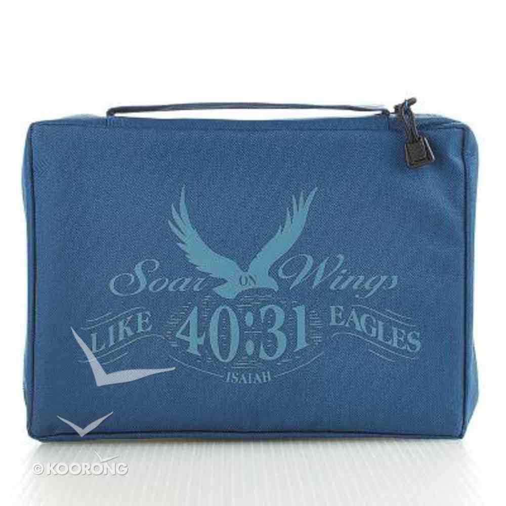 Bible Cover Value Large: Eagles' Wings Navy Bible Cover