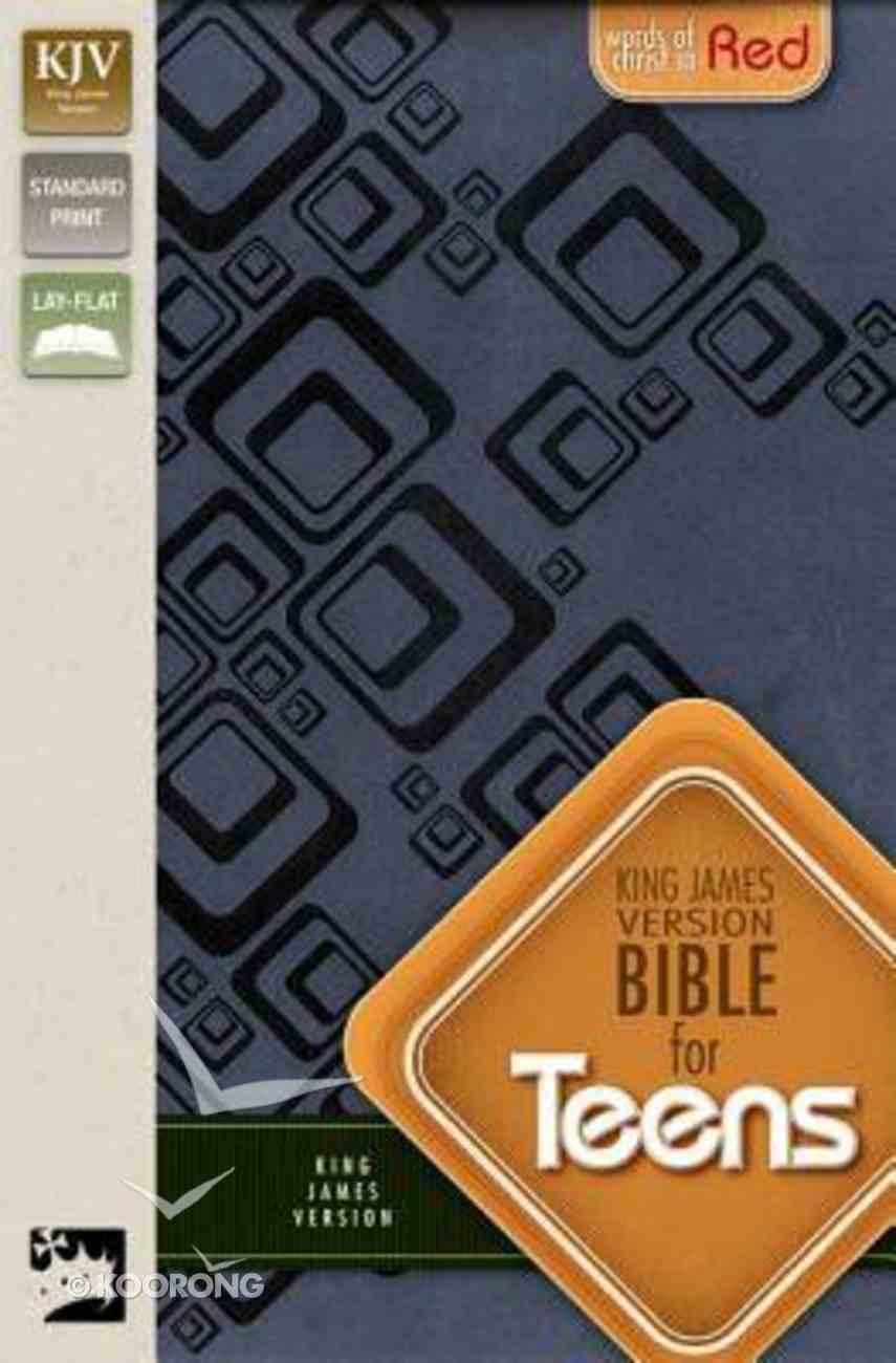 KJV Bible For Teen Slate Blue (Red Letter Edition) Premium Imitation Leather