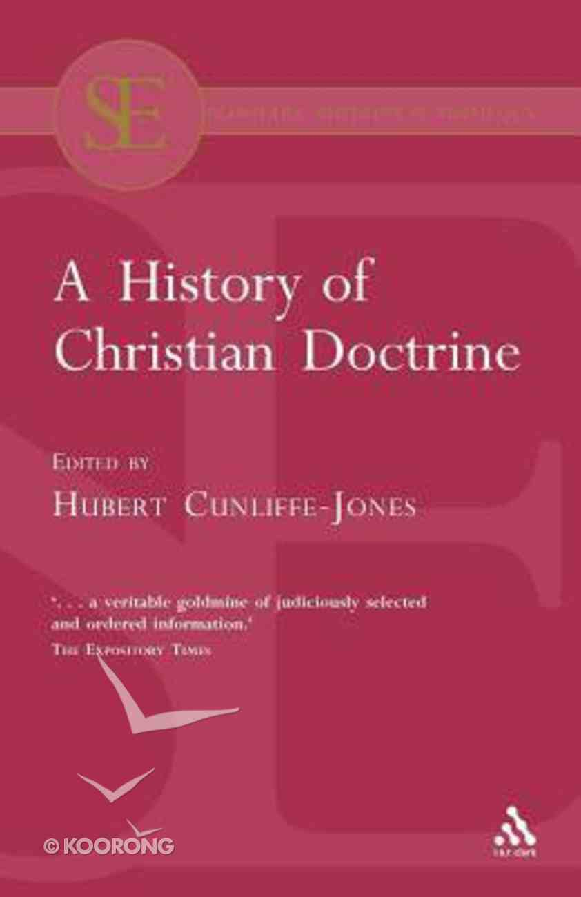 A History of Christian Doctrine Paperback