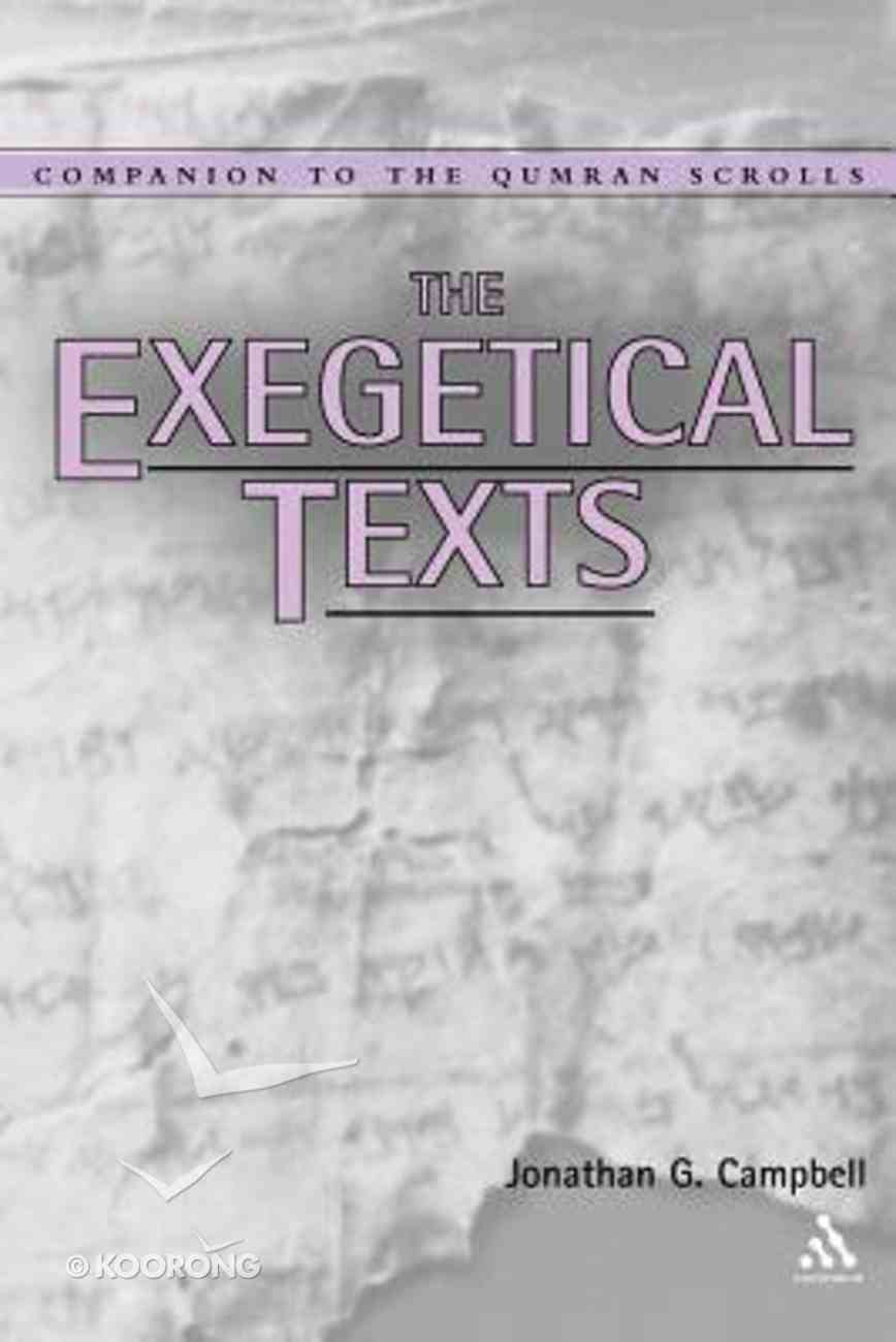 Exegetical Texts Paperback