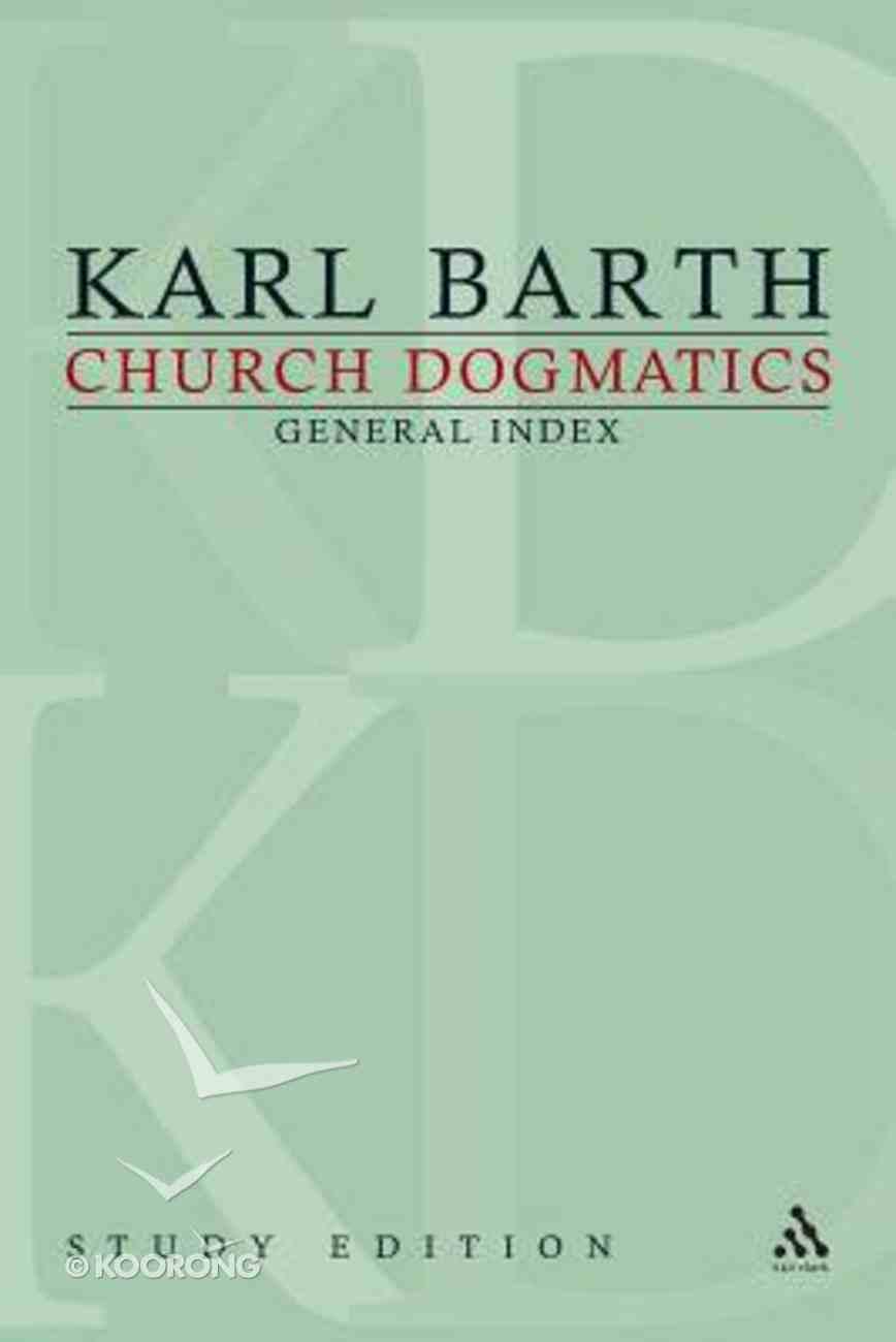 Church Dogmatics (Study Edition) Paperback