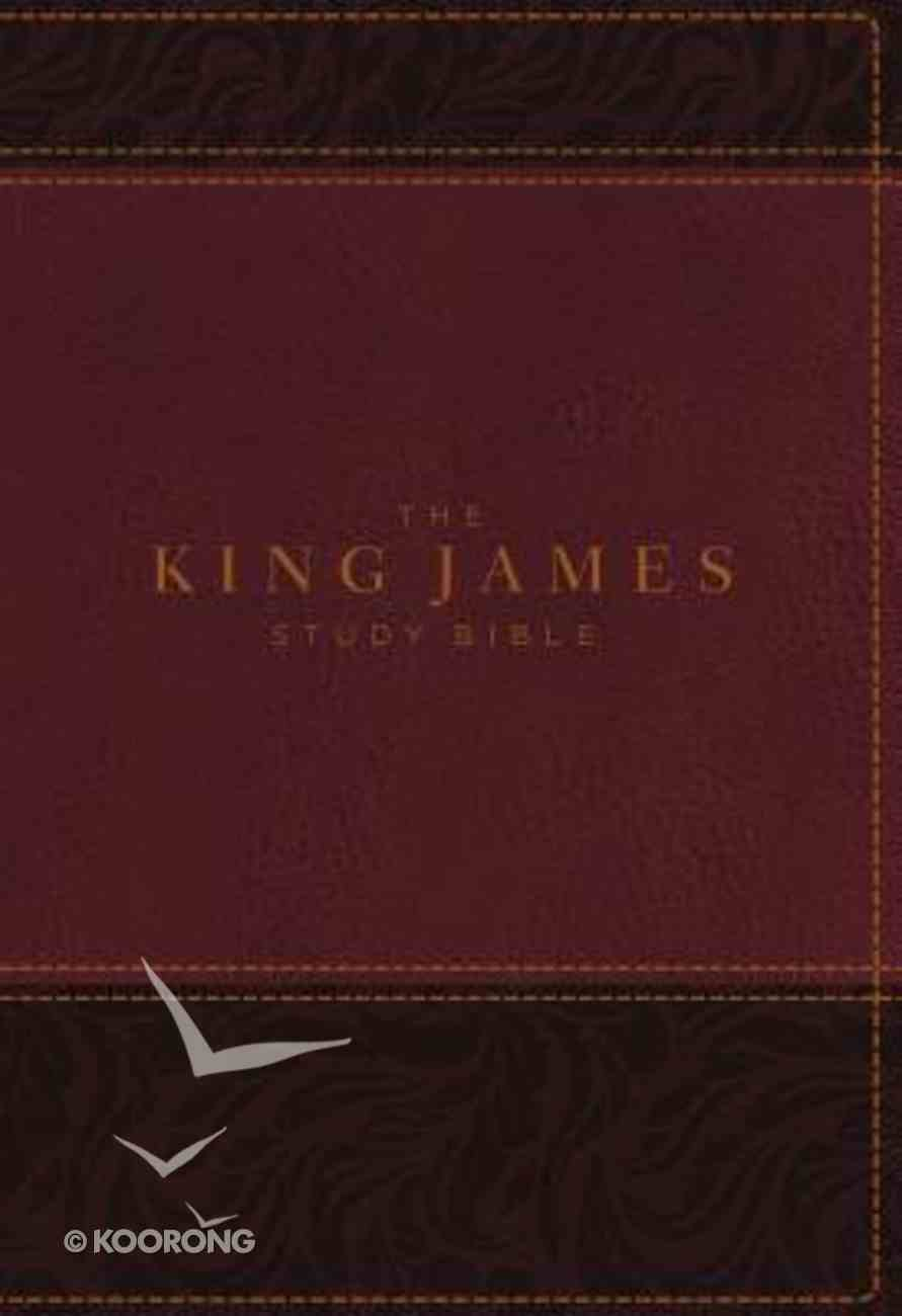 KJV Study Bible Burgundy Indexed Full-Color Edition (Red Letter Edition) Premium Imitation Leather