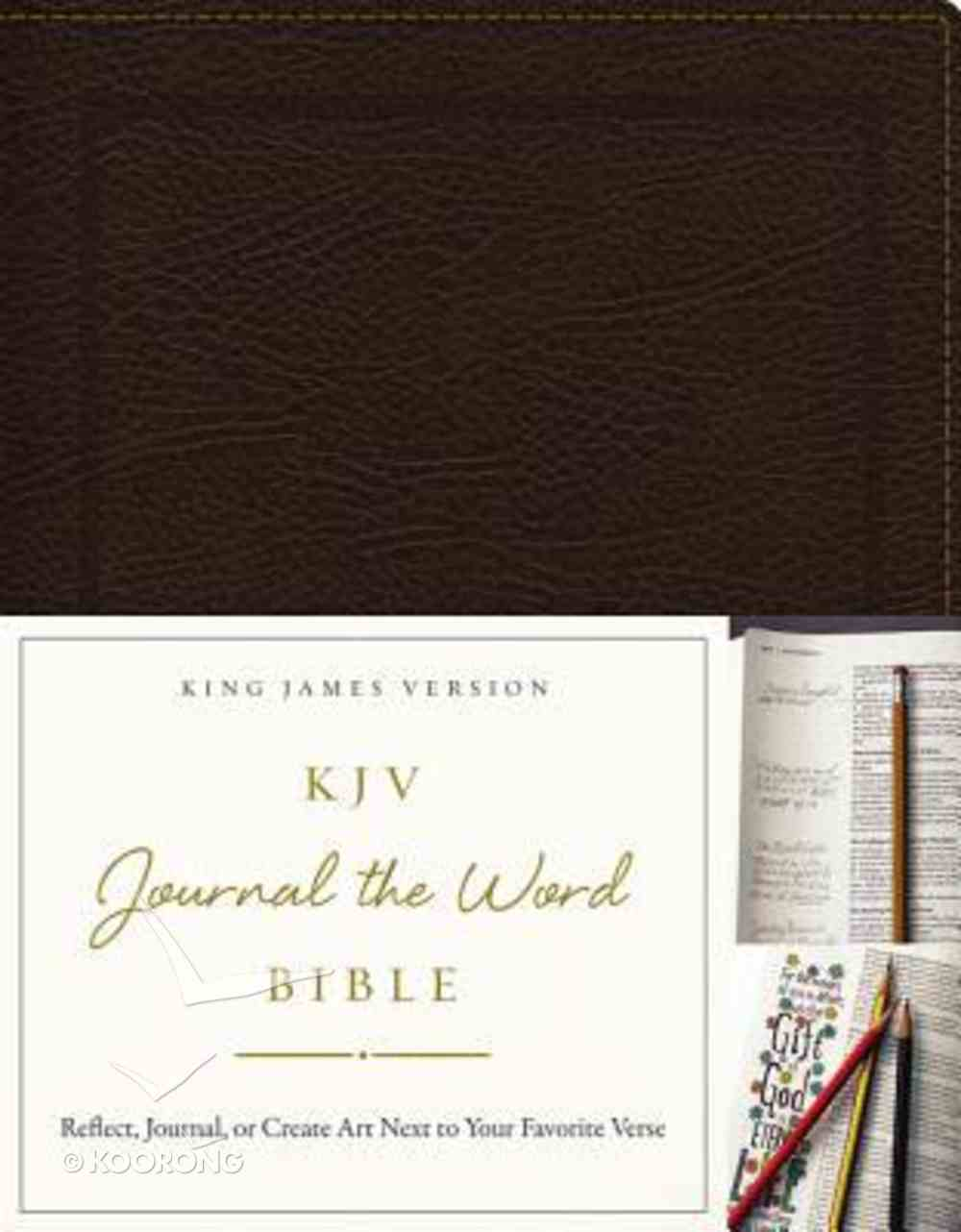 KJV Journal the Word Bible Brown (Red Letter Edition) Bonded Leather