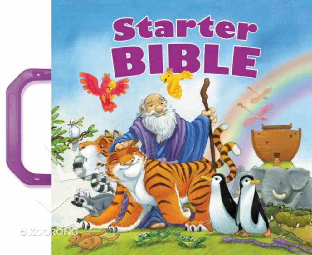 Starter Bible With Purple Handles Board Book