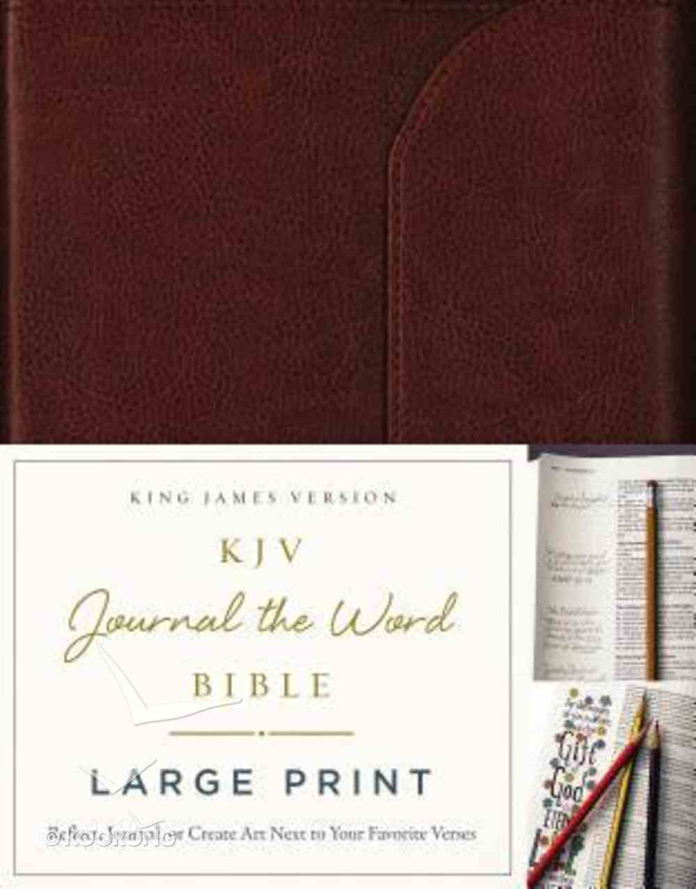 KJV Journal the Word Bible Large Print Brown (Red Letter Edition) Genuine Leather