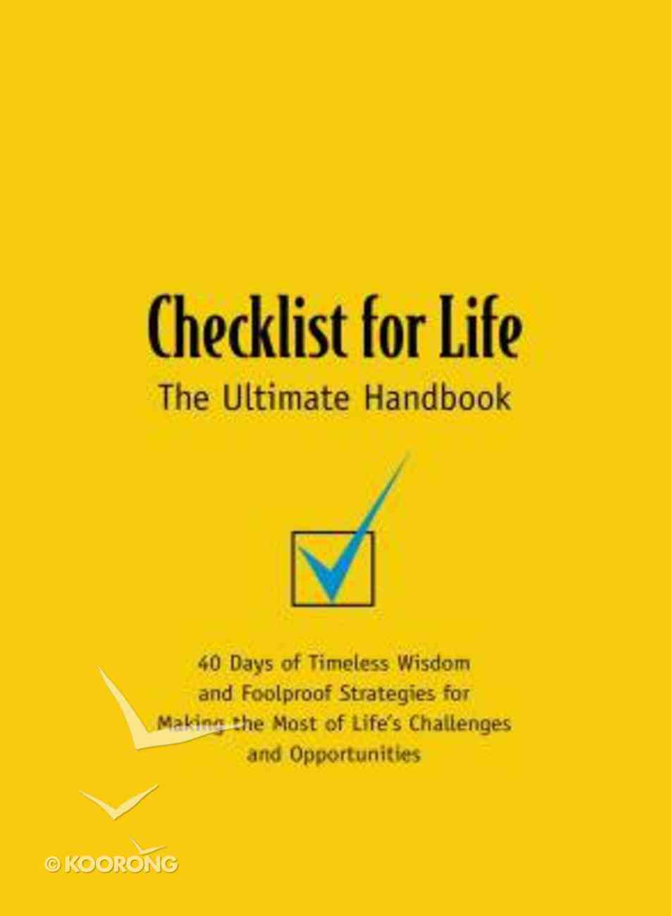 (Checklist For Life Series) Paperback