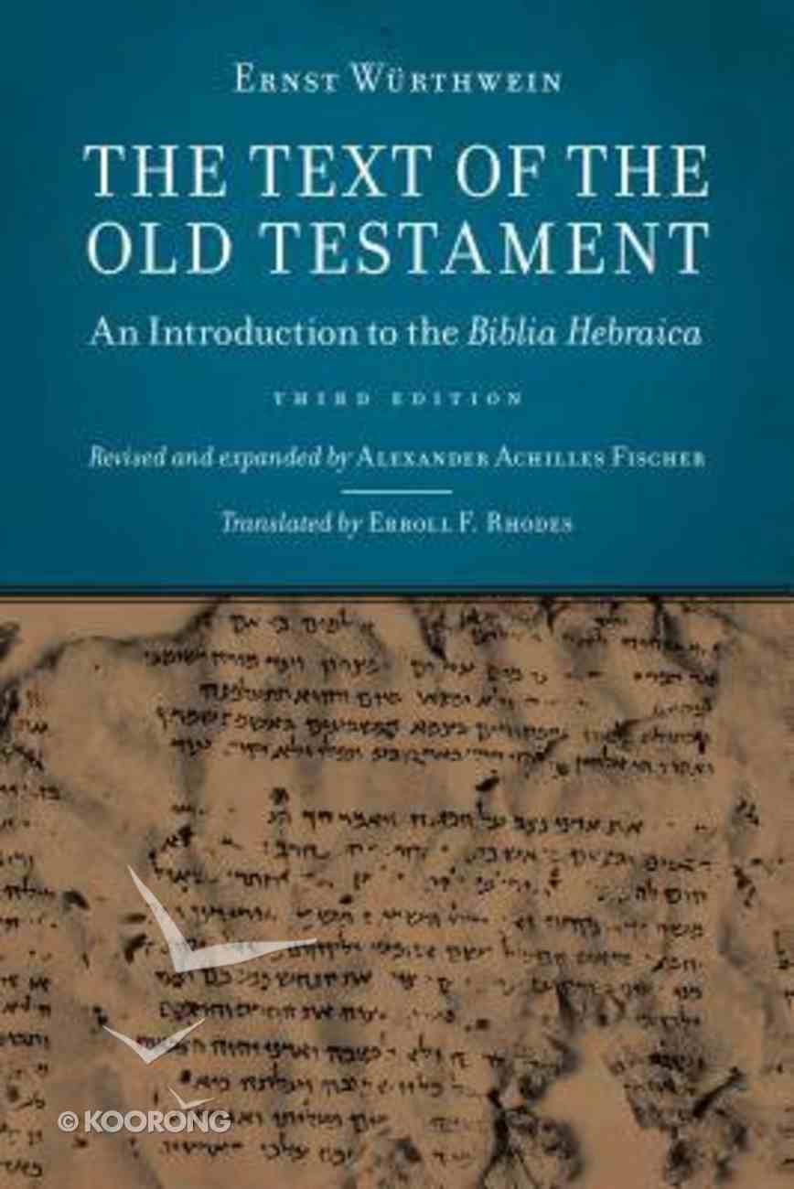 The Text of the Old Testament Paperback