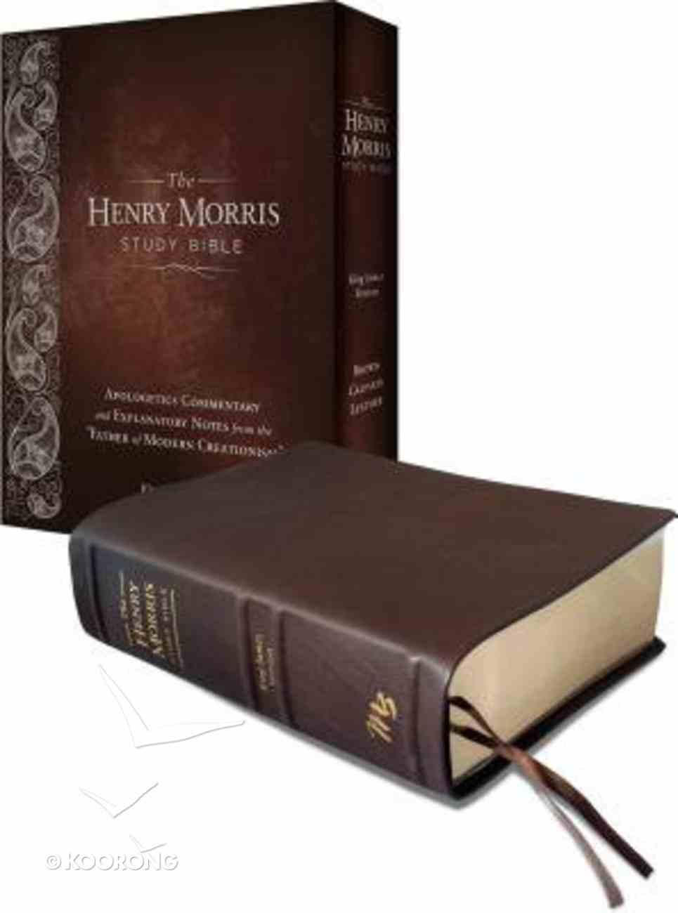 KJV Henry Morris Study Bible Brown Calfskin Leather Genuine Leather